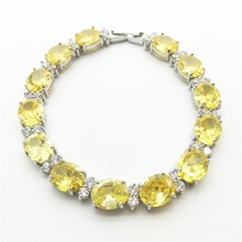 Women Charm Bracelets 10KT White Gold Filled Zircon Stone Gold yellow Fashion Jewelry Best Selling