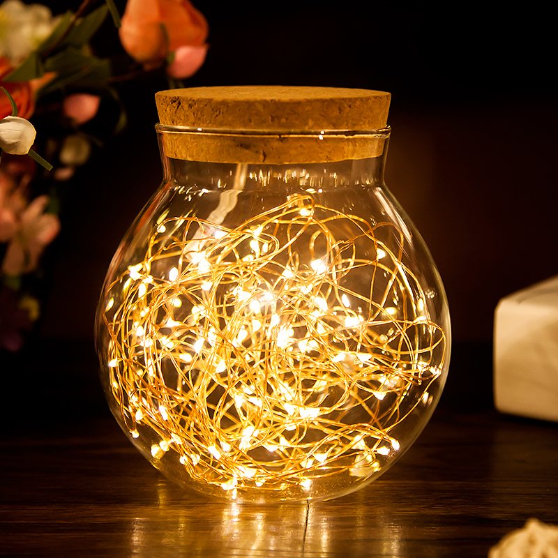 2M 20leds Garland Lamp LED Copper Wire Light String For Christmas Garland Valentines Wedding Party Decoration Lamp
