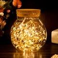 Fee 2M 20leds Girlande Lampe LED Kupfer Draht Licht String für Weihnachten Baum/Valentines/Hochzeit/partei Dekorative Leucht Lampe