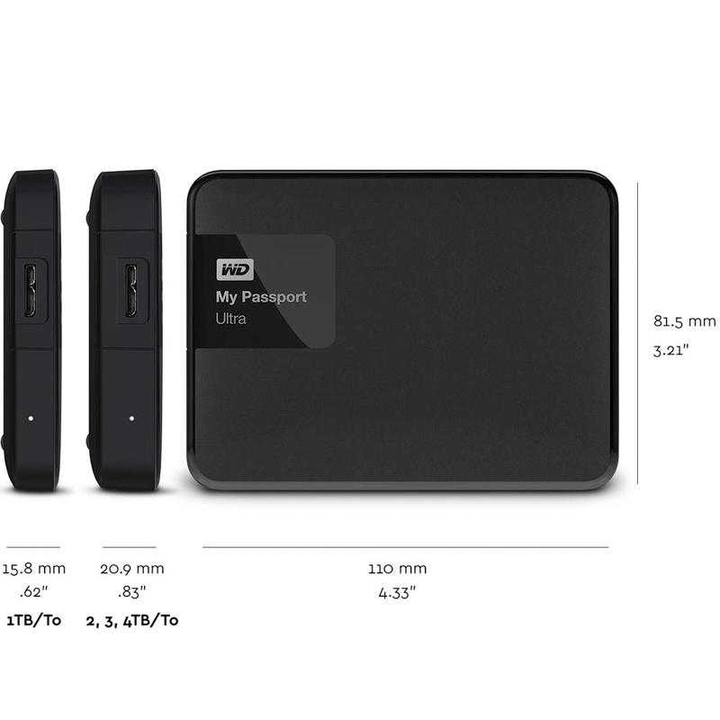 WD My Passport Ultra 2TB External Hard Drive Disk Portable HDD HD Harddisk  2 5
