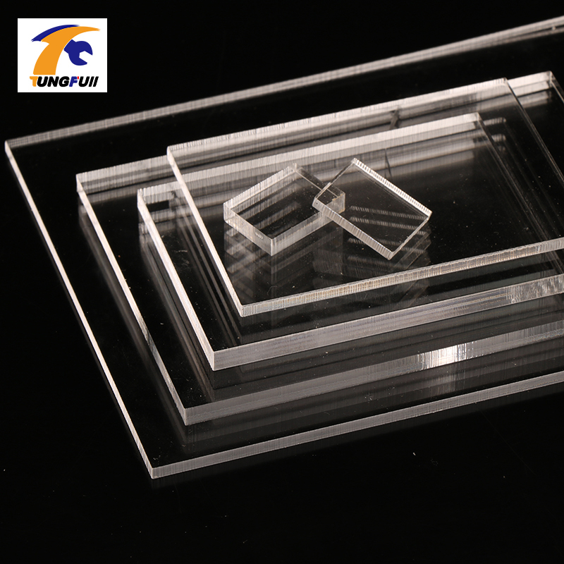 TUNGFULL 1mm Thickness Clear Acrylic Perspex Sheet Cut Plastic Transparent Board Perspex Panel Durable Doors And Windows Decor