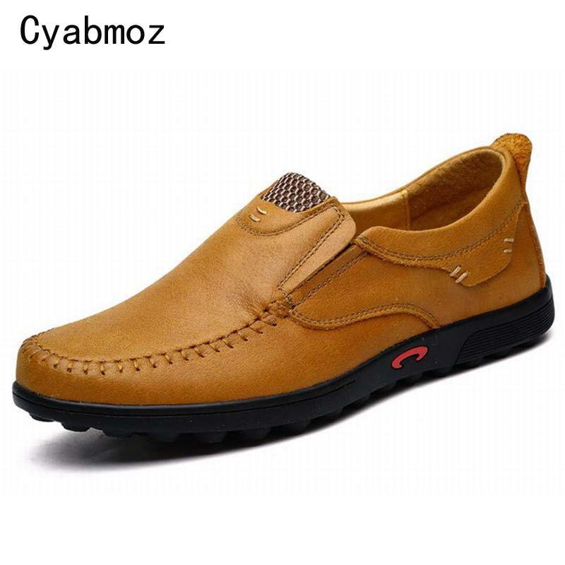 цены  Vintage Casual Men Loafers New 2017 Spring Men's Genuine Leather Moccasin Driving Shoes Classic Slip on Flats Mocassim Masculino