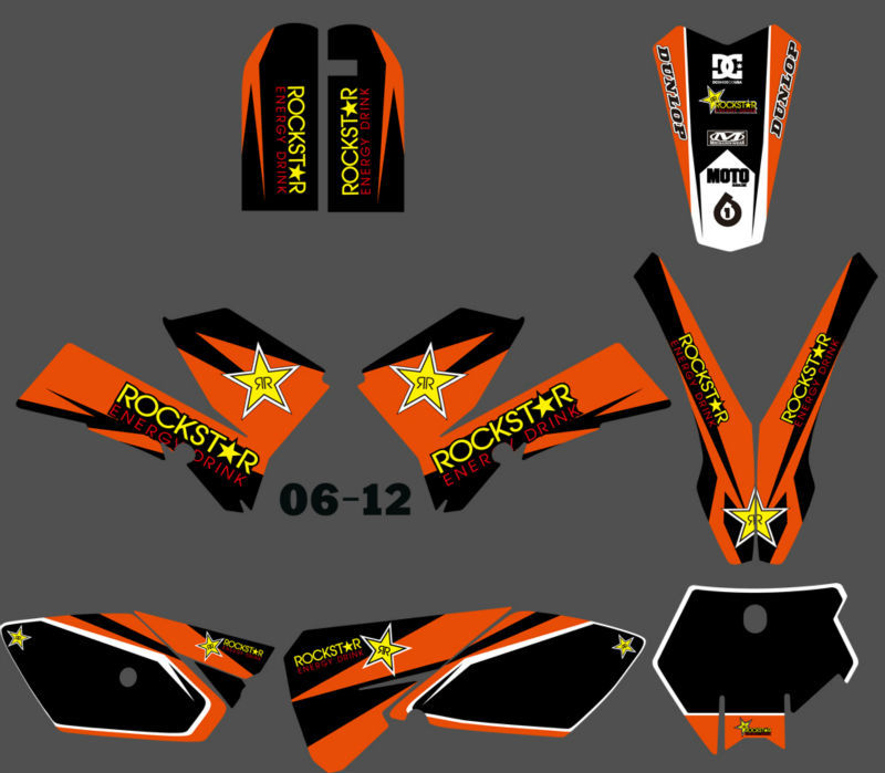 H2CNC GRAPHICS & BACKGROUND DECAL STICKER Kits Fit For KTM SX 85 SX85 2006 2007 2008 2009 2010 2011 2012