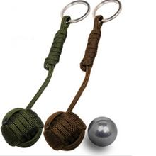 2019 NEW Security protection Black Monkey Fist Steel Ball Bearing Self Defense Lanyard Survival Key Chain mini Outdoor EDC