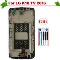 for LG K10 TV K10TV K410TV K430TV 2016 LCD Display With Frame Touch Screen Digitizer Assembly for LG K10 TV 2016 LCD Display