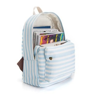 Aliexpress.com : Buy Stylish printing backpack female blue striped ...
