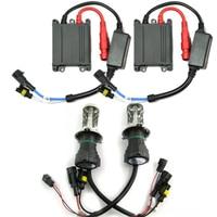 Auto 55W Conversion HID Bi Xenon Kit Black Slim Ballast H4 3 4300K Hi/Low Bulbs [CPA136]
