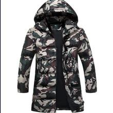 Camouflage Down Parkas Jackets Xmas Men's Parka Hooded Coat Male Fur Collar Parkas Winter Jacket Men Military Down Overcoat