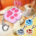 Cartoon Cute Keychain Cat Paw Feet Key Chain Sound Light LED Flashlight Key Ring Holder Figure Pendant Chaveiros Llaveros Gift