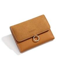 Бренд женский кошелек Простые короткие кошельки матовый из искусственной кожи держатель для карт женский кошелек Billeteras Para Mujer Porte Feuille Femme