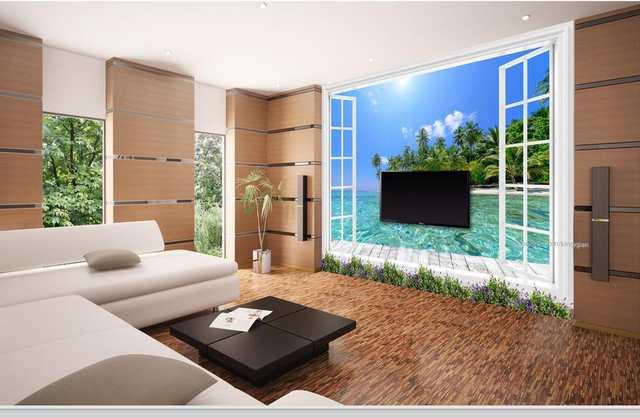 US $14.03 61% OFF|Benutzerdefinierte 3d stereoskopische tapete für wände  rollen meerblick 3d fototapete wohnzimmer badezimmer wandmalerei-in Tapeten  ...