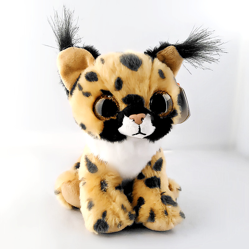 Ty Beanie Боос 6 15 см Ларри коричневый Lynx плюшевые шапочка Детские Плюшевые чучело Коллекционная мягкий большой средства ухода для век игрушки ...