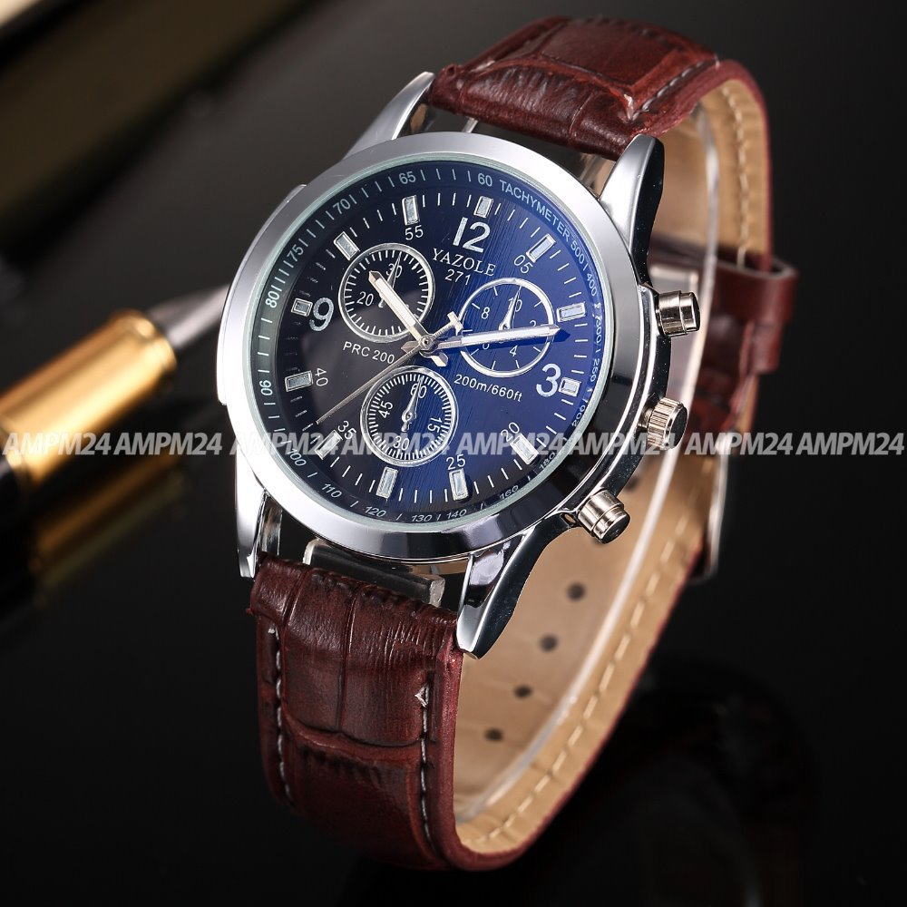 display with watches s white dp leather analogue men brown dial quartz watch and sekonda strap