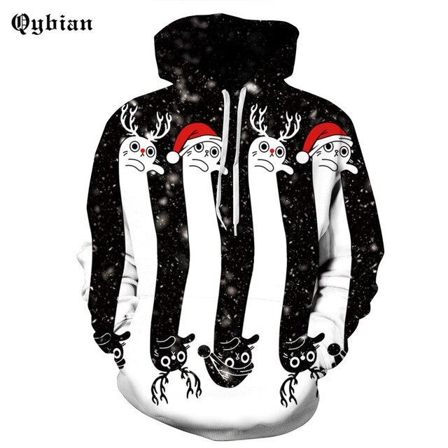 Qybian a estrenar hombres casual hoodies sudadera navidad muñeco de nieve  estampado tendencia pulóver abrigo ropa 93d16e80efbe