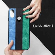 MOFI оригинальный джинсы полотняные чехол для телефона для Xiaomi Mi 8 Lite Pro мягкая задняя крышка корпуса Винтаж черный зеленый синий силиконовый Fundas