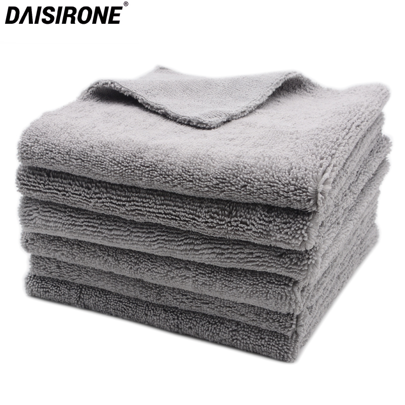 6PCS 40x40cm Super Thick Plush Edgeless Microfiber Towels Car Cleaning Cloths Car Care Microfibre Wax Polishing Detailing Drying