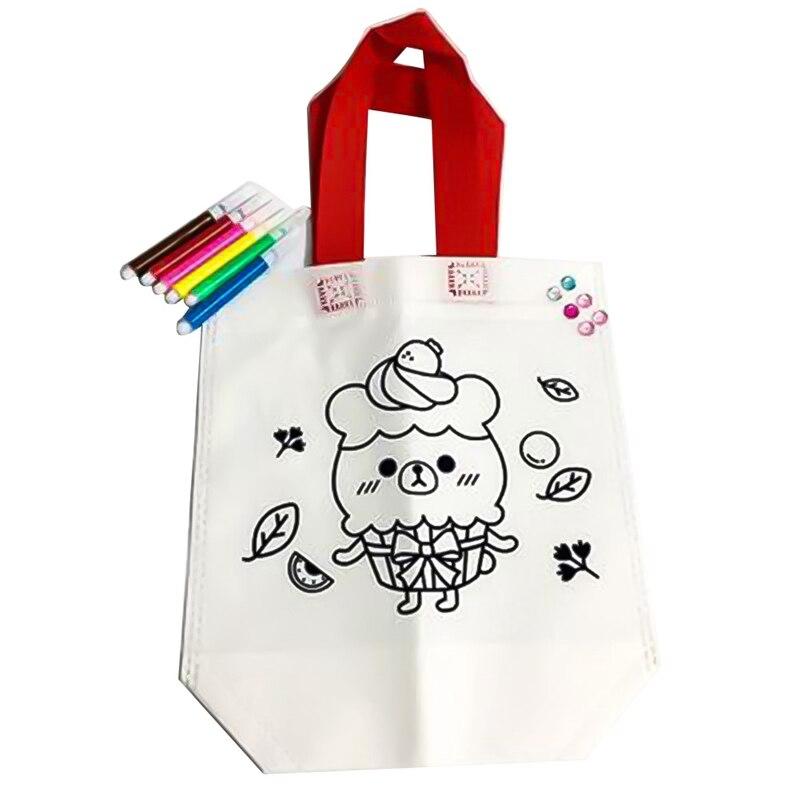 1 Stücke Diy Handwerk Kits Kinder Färbung Taschen Kinder Kreative Zeichnung Set Für Anfänger Baby Lernen Bildung Spielzeug Malerei Zufällig GroßEr Ausverkauf