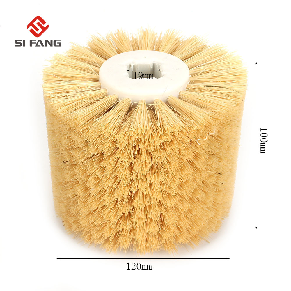 1PC 120*100*19mm Sisal Hemp Polishing Wheel Abrasive Wheel DuPont Wire Drawing Wheel Brush Drum Burnishing Polishing Wheel