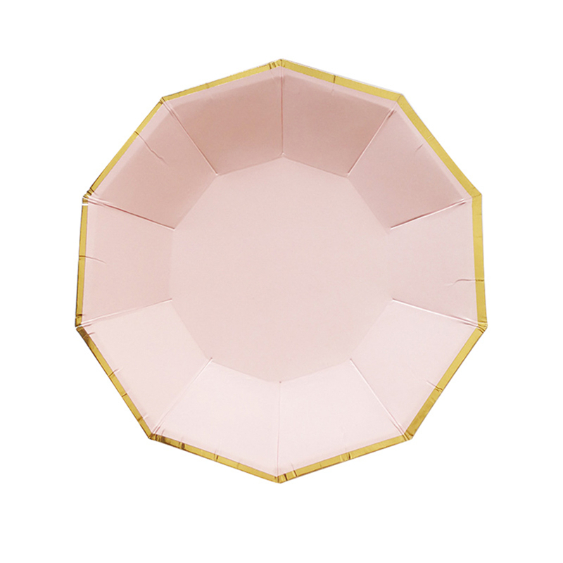 2017 Hot Waving Rose Gold St&ing Pattern Decorated Disposable Tableware Plates in Vintage Style for Parties Birthday Wedding -in Disposable Party ...  sc 1 st  AliExpress.com & 2017 Hot Waving Rose Gold Stamping Pattern Decorated Disposable ...