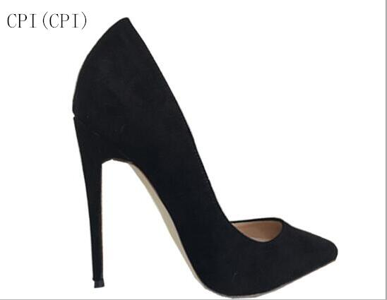 2018 original brand women Pumps Pointed Toe Suede High Heels Wedding Shoes Woman Ladies Fashion Thin Heel Zapatos Mujer Plus famiaoo women pumps chaussure femme black gray zapatos mujer tacon high heel 2017 pointed toe thin heel ladies pumps women shoes