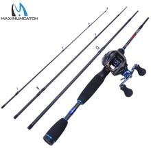Baitcasting Rod Combo 2.1M/6.9′ Casting Rod Left & Right Handed Baitcasting Reel Bass Fishing Baitcasting Rod
