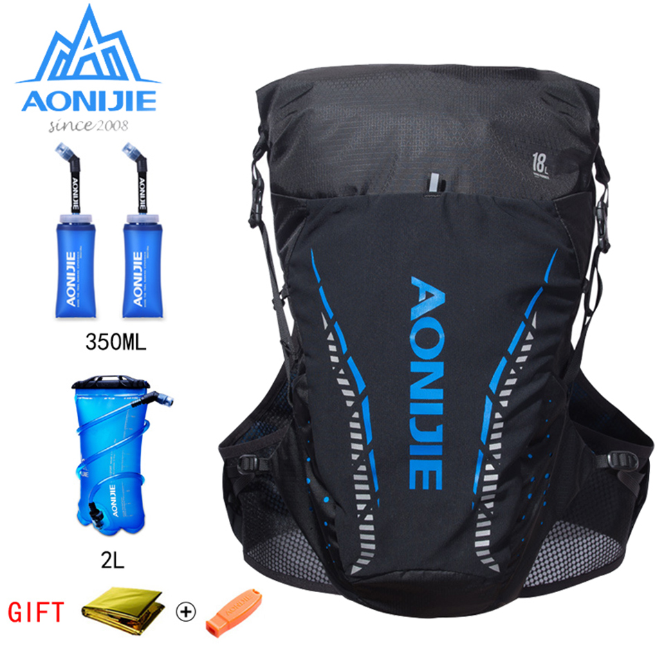 AONIJIE 18L Women Men Marathon Hydration Vest Pack For 2L Water Bag Cycling Hiking Bag Outdoor