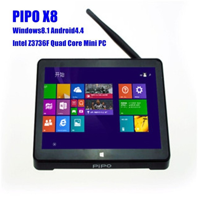 NEW Coming PIPO X8 Windows8.1 Android4.4 Dual Boot Intel Z3736F Quad Core Mini PC 7 Tablet HDMI 2G/32G 802.11b/g/n LAN player