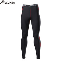 2017 ARSUXEO Men S Winter Thermal Warm Up Fleece Compression Tights Cycling Base Layers Training Running