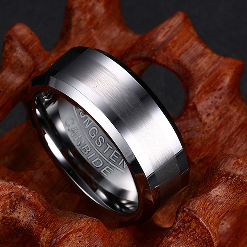 Classic Tungsten Carbide Ring for Men