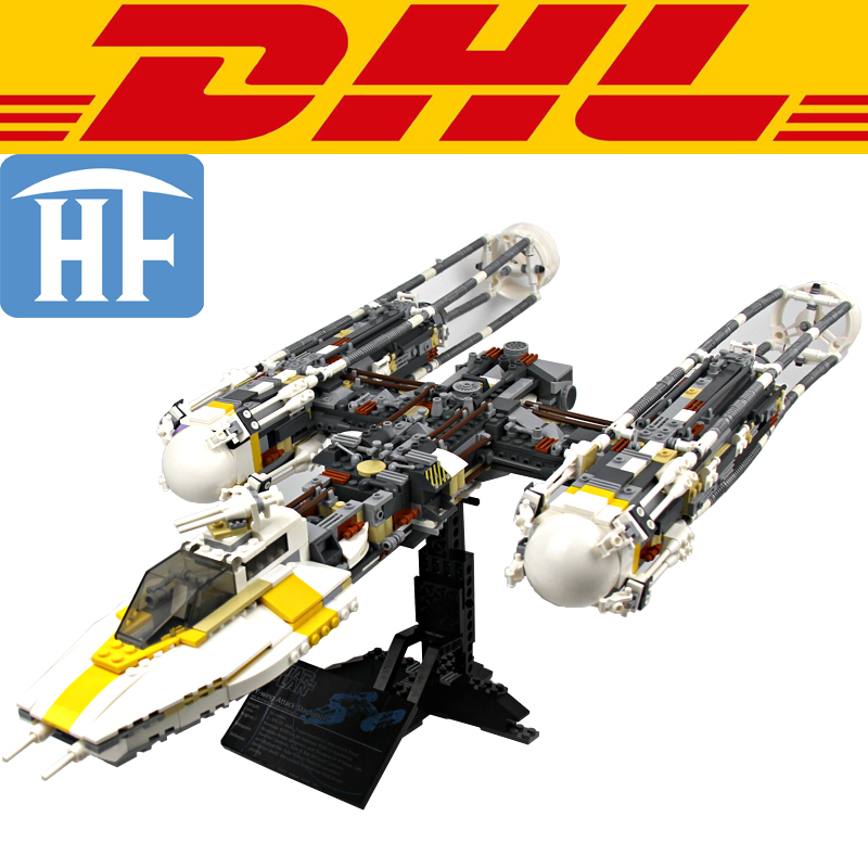 2017 NEW 1473Pcs Star War Y-wing Attack Starfighter Model Building Kits Blocks Bricks Toys For Children Compatible With 10134 lepin 05040 y attack starfighter wing building block assembled brick star series war toys compatible with 10134 educational gift
