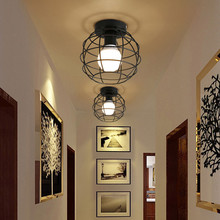 E27  LED celling lamp Metal lampshade Retro Ceiling lamp for loft Bar Cafe Aisle without bulb