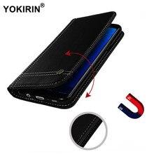 YOKIRIN Магнитный кошелек кожаный чехол флип для Samsung Galaxy S5 9600 S6 S7 край S8 плюс A5 A5100 A3 A3100 J5 2017 J5 2016