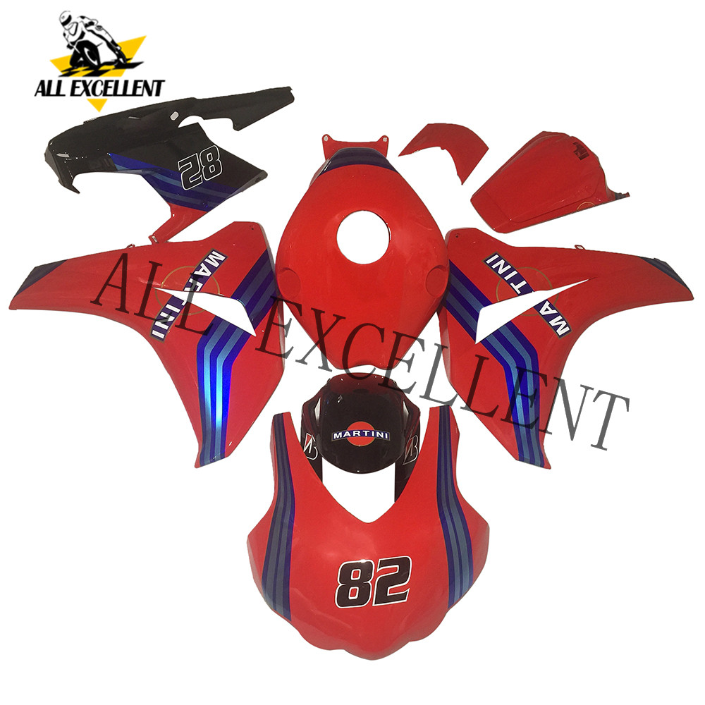 <font><b>2008</b></font> 2009 2010 <font><b>CBR1000RR</b></font> CBR 1000 RR Red Blue line custom fairing kits bodywork Complete fairing <font><b>parts</b></font> high quality ABS image