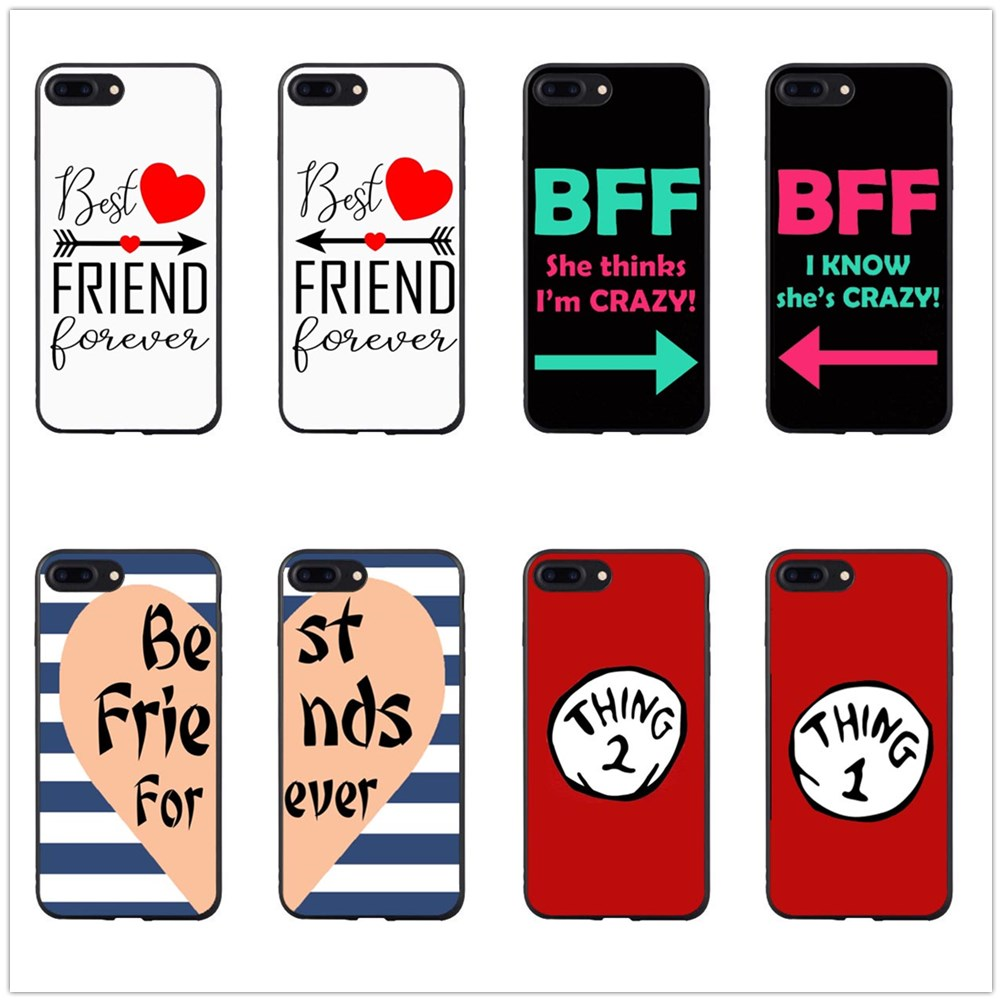 Unique Luxury Best friend forever <font><b>BFF</b></font> Black hard PC phone <font><b>case</b></font> For iPhonema MAX XR 5s <font><b>SE</b></font> 6 6plus 7 7plus 8 plus X <font><b>Case</b></font> coque image