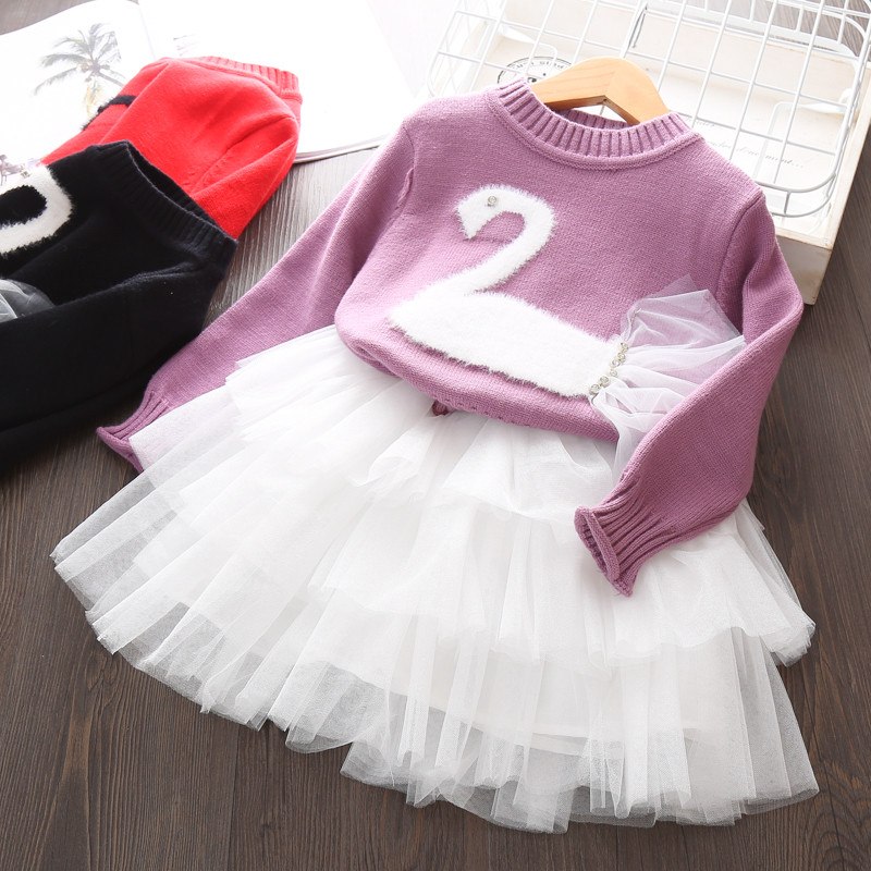 girls clothing set suit Tutu Skirt + sweater Pullover 2 pieces Children outfits Kids Girl Cute Christmas Cute wear 3 4 5 6 years ems dhl free shipping toddler girls 2016 new cute x mas outfit 2pc suit vest skirt holiday wear children clothing snow flake