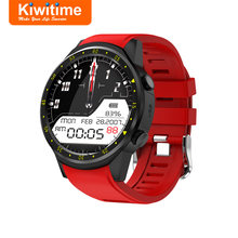 KIWITIME KF01 Smart Watch GPS Compass Camera SIM Card Heart Rate Monitor Men Sport Smartwatch for iPhone X Samsung Android Phone(China)