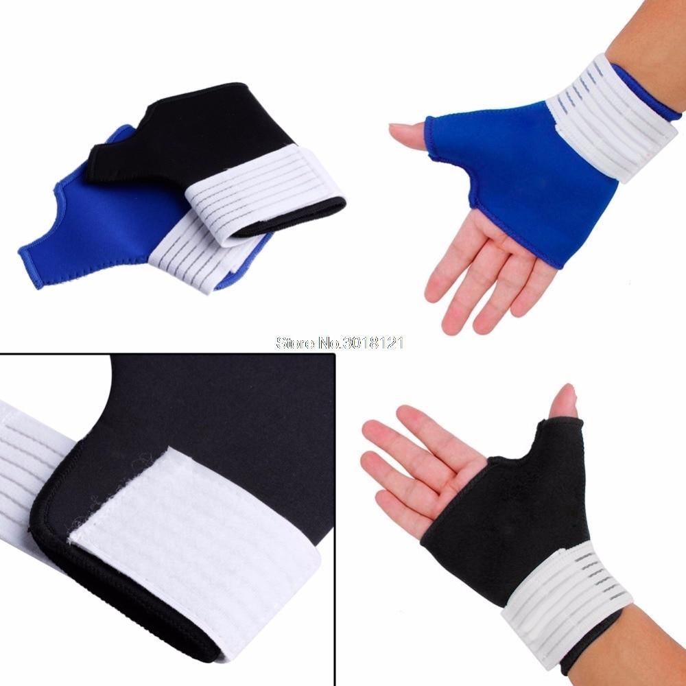 1 Pair Thumb Wrap Hand Palm Gloves Wrist Brace Support Splint Arthritis Relief Sleeves Drop ship