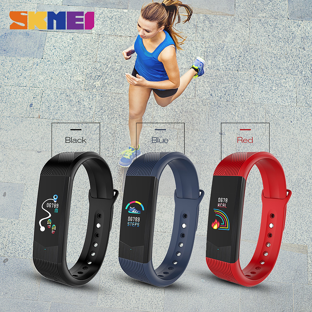 Bild av Outdoor Sport Smart Watch Sport Fitness Tracker Smartwatch Waterproof HeartRate Blood Pressure Bracelet 3D Women Wristwatches