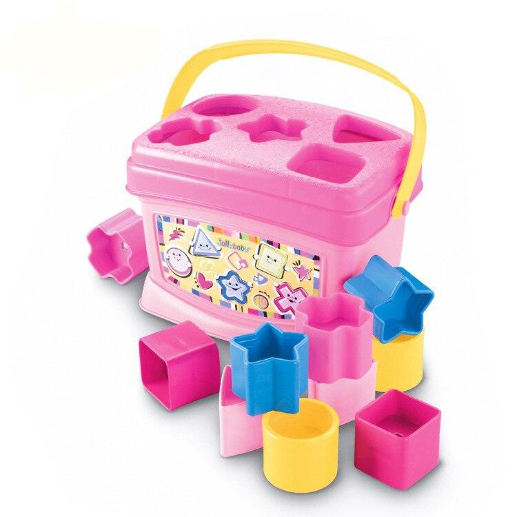 Bébé Blocs Jouets Brinquedos Para Bebe Rose Bleu 6-36 Mois Jouets Éducatifs Pour Bébés D'apprentissage En Bas Âge Jouets Oyuncak