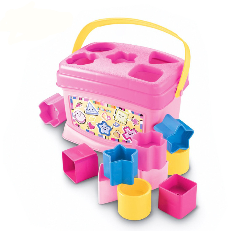 Baby Blocks Toys Brinquedos Para Bebe Pink Blue 6-36 Months Educational Toys For Babies Learning Toddler Toys Oyuncak