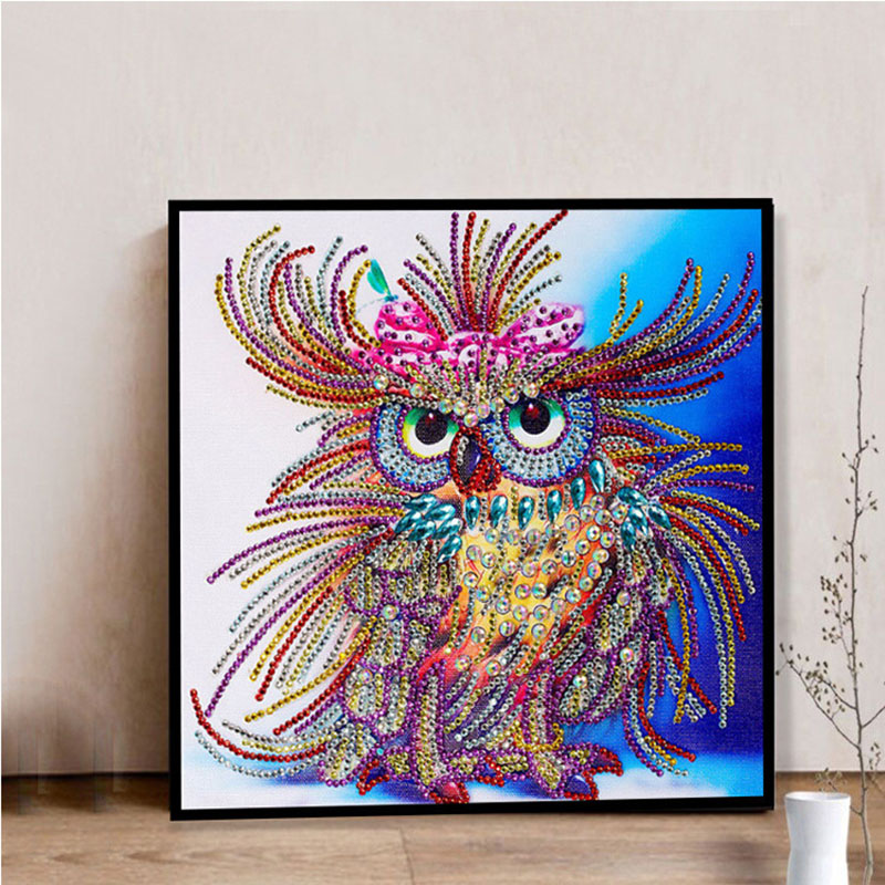 Hot Promo 4f0a 5d Diy Special Sharped Diamond Painting Owl