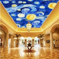 Free Shipping Custom HD Famous Painting Star Oil Painting Roof Decoration Wallpaper Living Room Hotel Restaurant