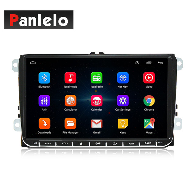 Panlelo 안드로이드 2Din 멀티미디어 플레이어 Autoradio 2 딘 GPS 네비게이션 블루투스 Radi 자동차 스테레오 9 인치 터치 스크린 미러 링크