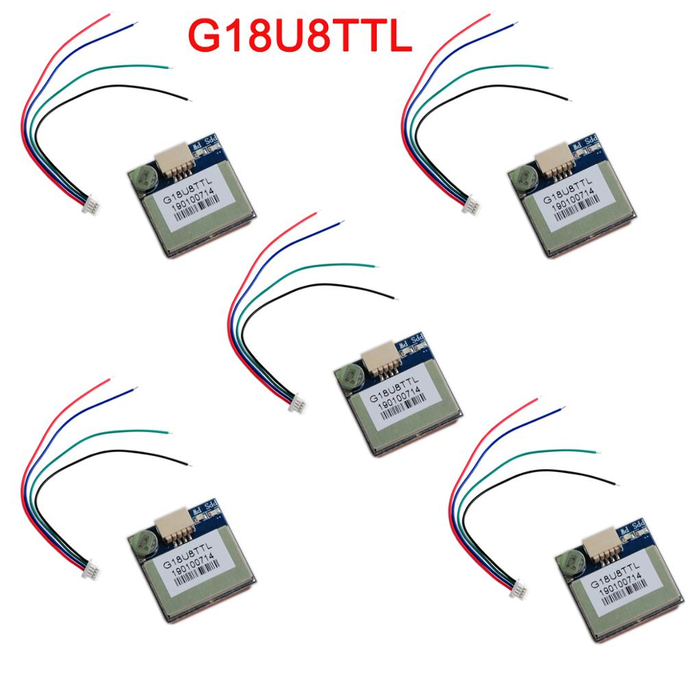 5Pcs/lot G18U8TTL GPS/GLONASS/BDS Navigation Module High Sensitivity Positioning Chip Microcomputer For Vehicle, PDA,ect. FZ3724