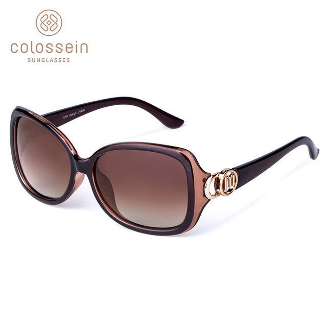 COLOSSEIN MSTAR Sunglasses Women Polarized luxury Round Metal Hinge Sun Glasses Gradual Light Soft Classic Eyewear UV400