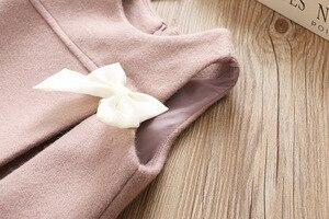 Image 3 - Vestidos de moda para niña, vestido de fiesta sin mangas con lazo de lana para niña 2 3 4 5 6 años, vestido de princesa para bebé niño niña, ropa de invierno