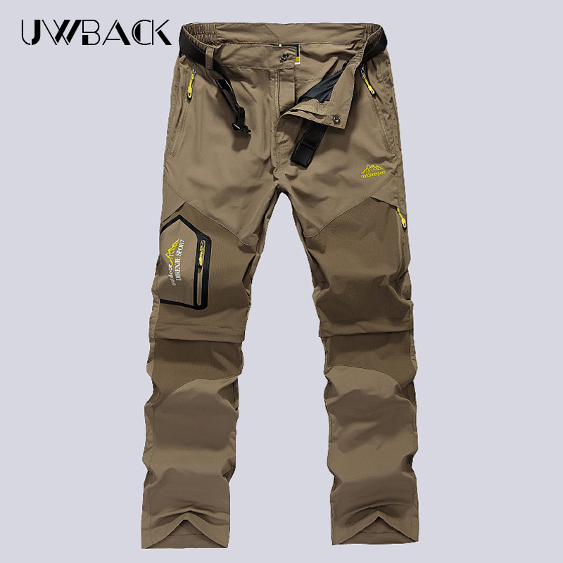 Mens KD Quick Dry font b Hiking b font Pants Men Outdoor Camping Pants Removable Male