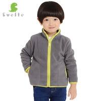 SVELTE Brand 4 9Y Children Boys Solid Fleece Jacket Cardigan Chaqueta Coat Jersey For Fall Winter