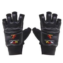 Jinaoxin 1 Pair Hand Protection Gloves EVA Pad for Taekwondo Karate Sparring Boxing (Black)