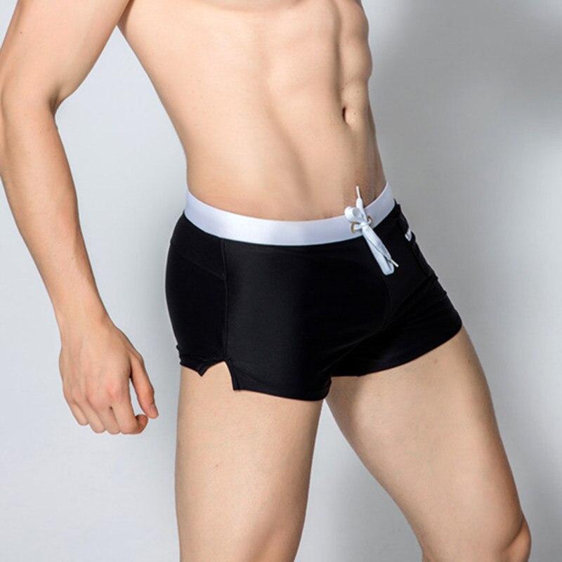 2PCS Lot GANYANR Brand Men Swimming Trunks Gay Briefs Swimwear Swimsuit Swim Shorts Bathing Boxer Sexy 2017 Beachwear Low Waist in Men 39 s Trunks from Sports amp Entertainment